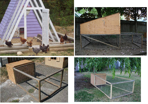 chicken tractor plans with in built wire run and chance for the birds to free range