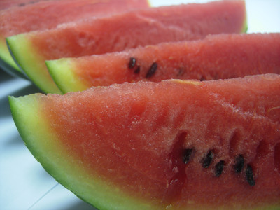 melon cool treat for chickens in summer